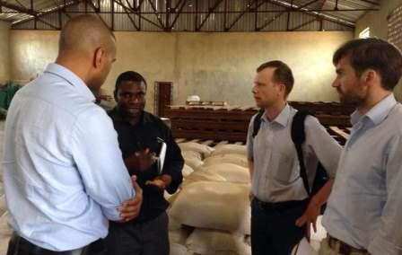 The EIB trip included visits with warehouse operators in both urban and rural areas, accompanied by a representative from the European Union delegation to Malawi